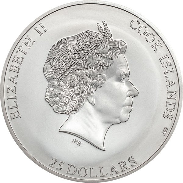 Kilimanjaro The 7 Summits 5 oz BU Silver Coin 25$ Cook Islands 2019