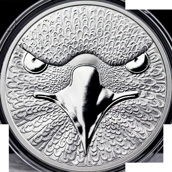Binary Eagle Sol Noctis 1 oz Proof Silver Coin 0,01 BTC 2014