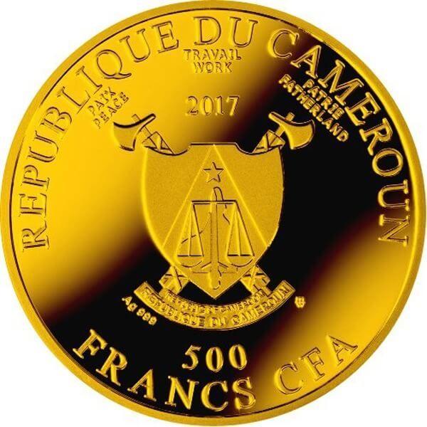Rafael Santi Ave Maria Proof Silver Coin 500 Francs Cameroon 2017