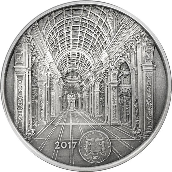 Benin 2017 1500 Francs Infinity Minting St. Peter's Cathedral Antique finish Silver Coin