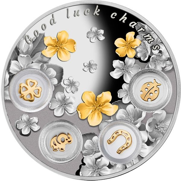 Niue 2015 5$ Good Luck Charms 77.75g Proof Silver Coin