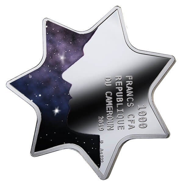 Constellation of Luck Proof Silver Coin 1000 Francs CFA Cameroon 2019