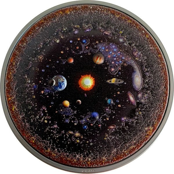 The Universe Space; the Final Frontier 3 oz Black Proof Silver Coin 20$ Palau 2019
