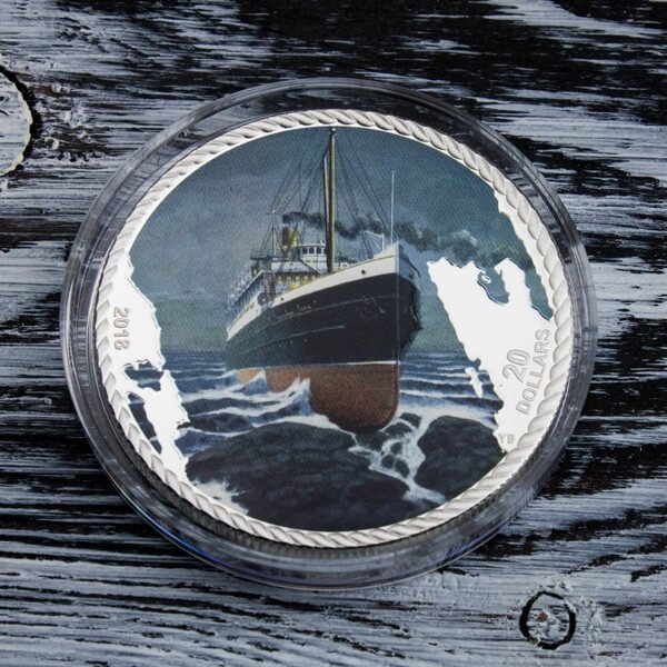 Sinking of The SS Princess Sophia 1oz Proof Silver Coin 20$ Canada 2018