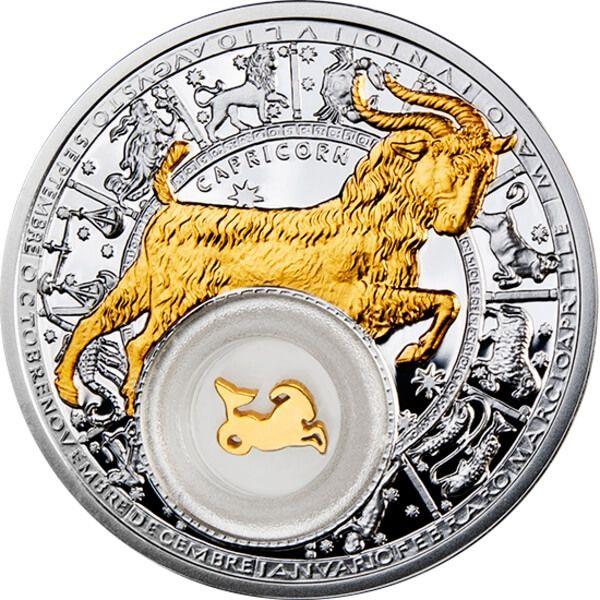 Belarus Zodiac 2013 Capricorn Proof Silver Coin 20 rubles Belarus 2013