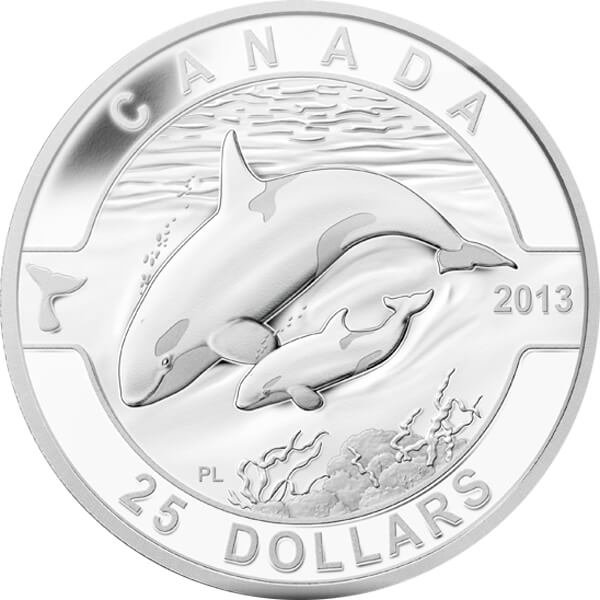 Canada 2013 25$ Orca Silver Proof Coin
