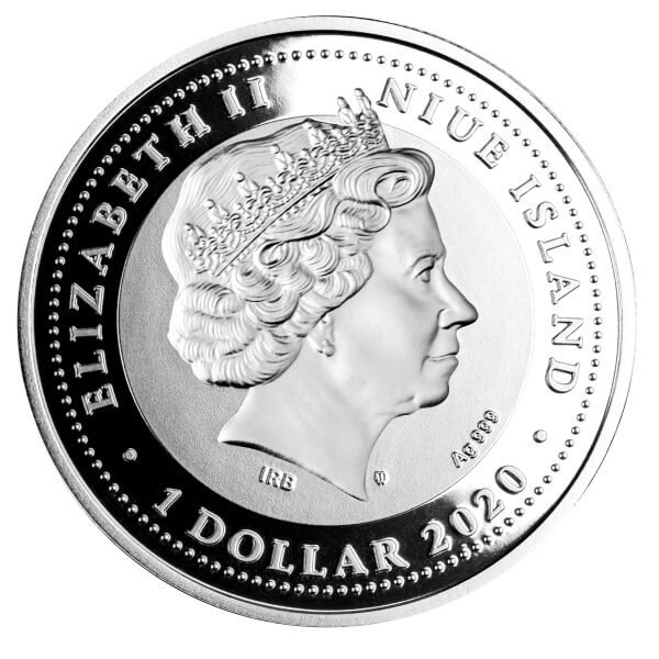 In Victoria Proof Silver Coin 1$ Niue 2020