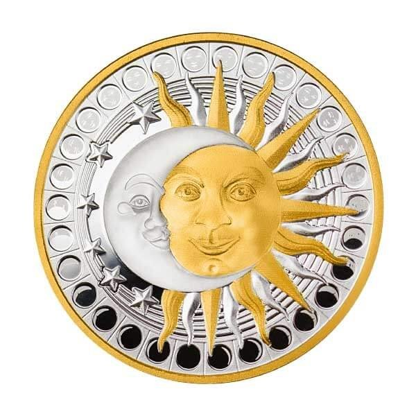 Sun and Moon Proof Silver Coin 500 Francs Cameroon 2020