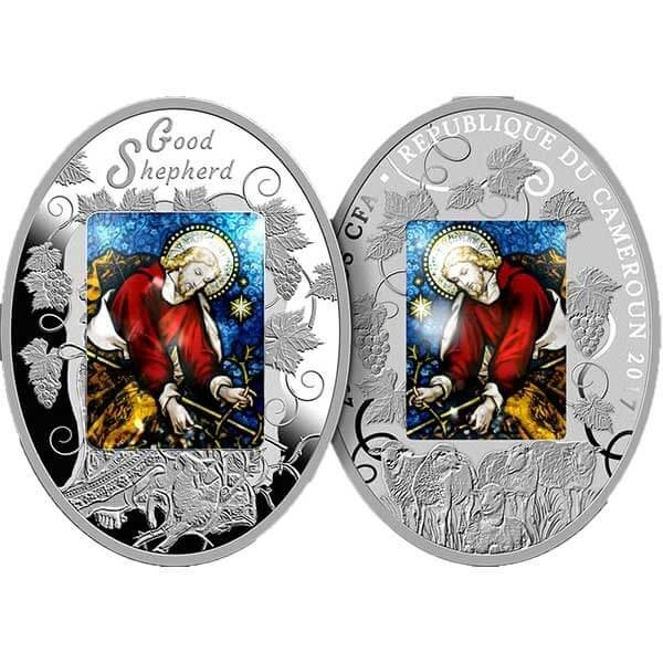 Good Shepherd 1.5 oz Proof Silver Coin 2500 Francs Cameroon 2017