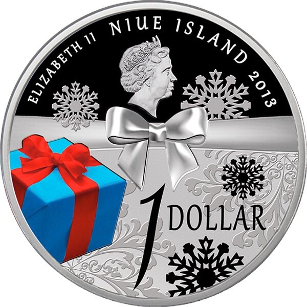 Niue 2013 1$ Merry Christmas 2013 Proof Silver Coin