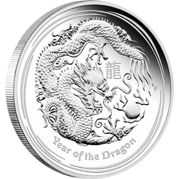 Year of the Dragon Proof Silver Coin 1/2$ Australia 2012