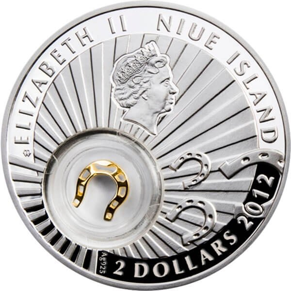 Horseshoe Lucky Coins II Proof Silver Coin 2$ Niue 2012