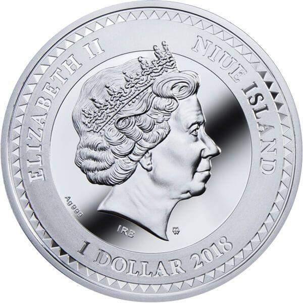 Medicine Golden Five Proof Silver Coin 1$ Niue 2018