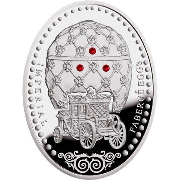 Niue 2012 1$ Coronation Egg Imperial Faberge Eggs Proof Silver Coin