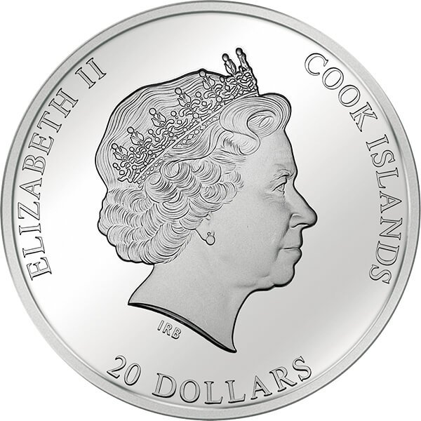"""Cook Islands 2014 20$ """"Christmas Annunciation"""" Philippe de Champaigne  Masterpieces of Art 3 oz Proof Silver Coin"""