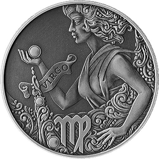 Belarus 2015 1 ruble Virgo Signs of the zodiac  Antique finish CuNi Coin