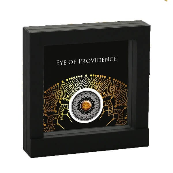 Eye of Providence Proof Silver Coin 1$ Niue 2017
