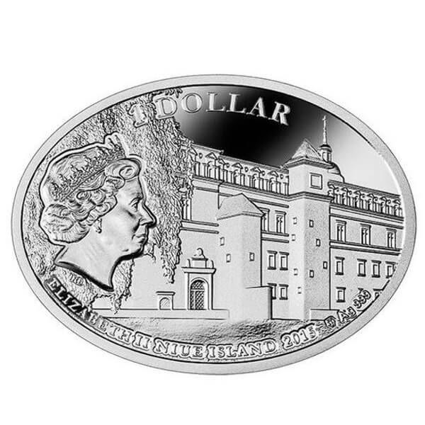 Niue 2015 1$ The Most Beautiful Polish Love Stories - Sigismund II August & Barbara Radziwiłł Proof Silver Coin
