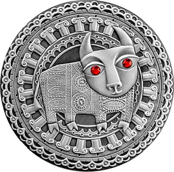 Taurus UNC Silver Coin 20 rubles Belarus 2009