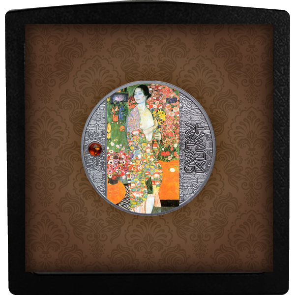 The Dancer Gustav Klimt  Proof Silver Coin 500 Francs CFA Cameroon 2021