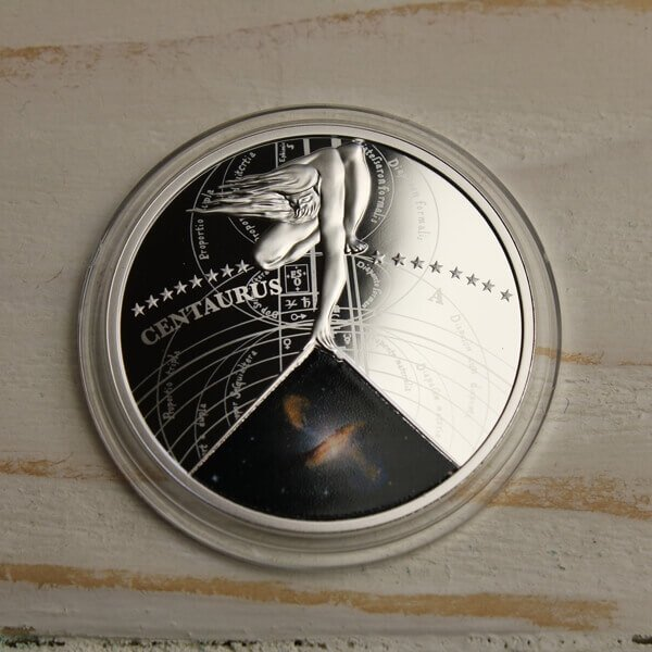 Niue 2015 1$ Centaurus The Most Beautiful Galaxies Proof Silver Coin