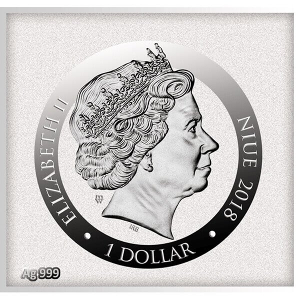 Angels - Raffaello Sanzio Da Urbino Divine Guardians of Humanity Proof Silver Coin 1$ Niue 2018