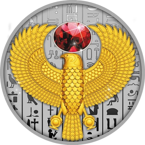 Falcon The Symbol of Ancient Egypt Proof Silver Coin 1$ Niue 2020