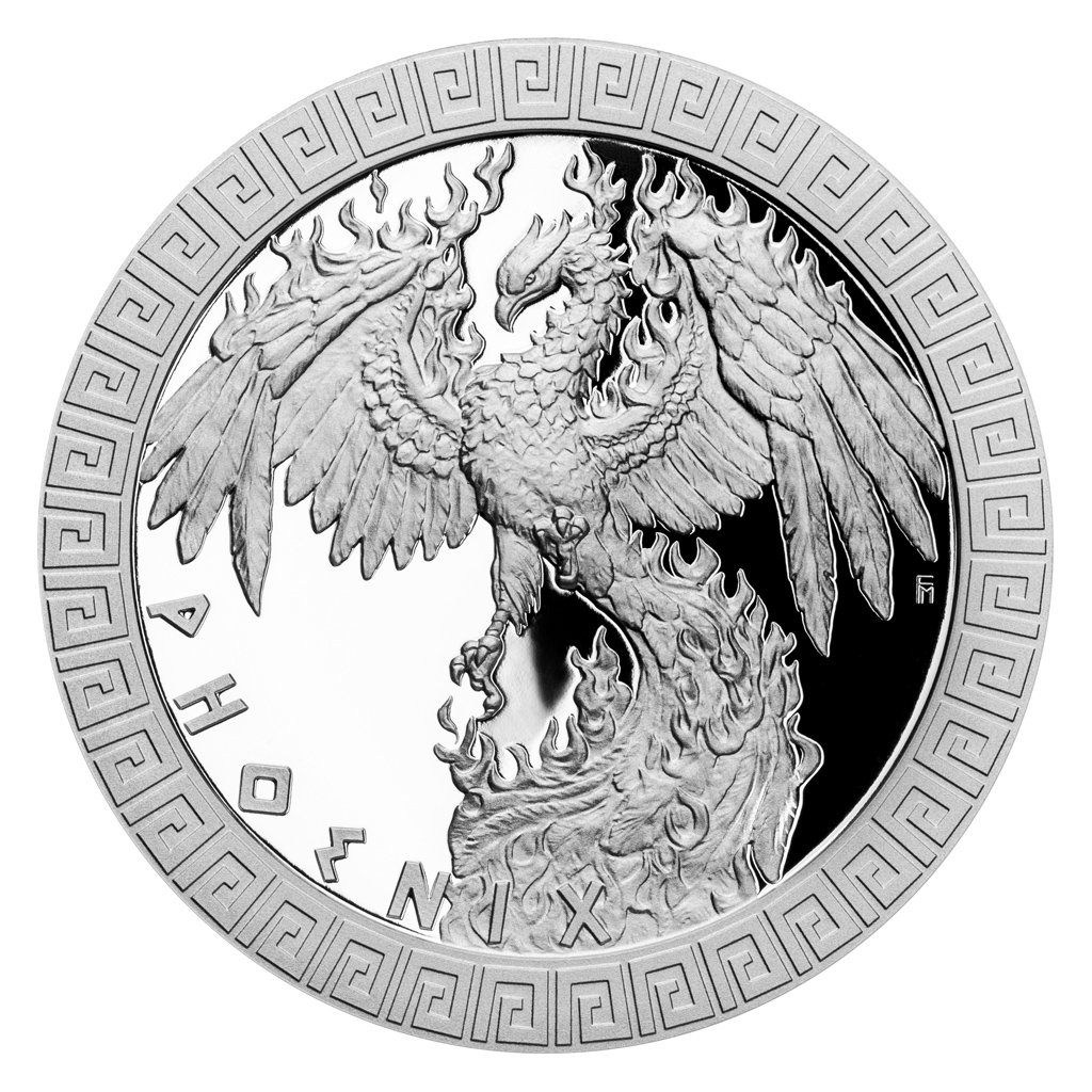 Phoenix Mythical Creatures 1 oz Proof Silver Coin 2$ Niue 2020