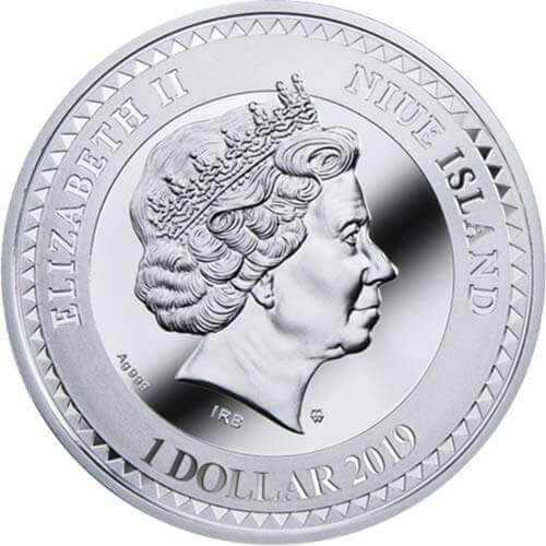 Death and Life Proof Silver Coin 1$ Niue 2019