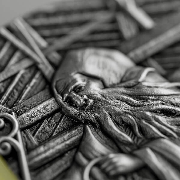 Skarbek The Spirit of the Coalmine 2 oz Antique finish Silver Coin 5$ Niue 2021