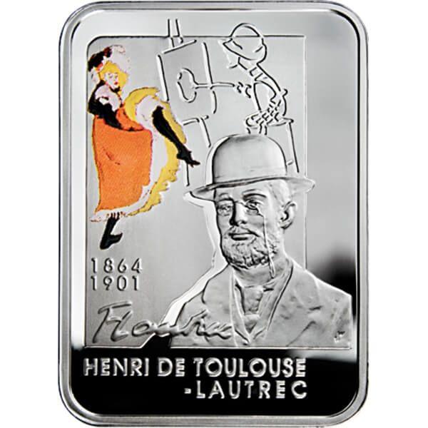 Niue 2008 1$ Henri de Toulouse-Lautrec Painters of the World UNC Silver Coin