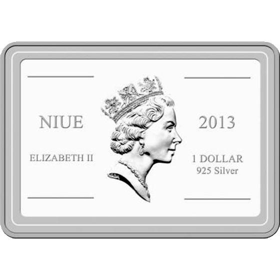 Niue 2013 1$ Royal Gramma Tropical Fish Proof Silver Coin
