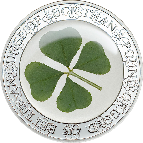 Palau 2017 5$ Four-leaf clover Ounce of Luck 2017 1 oz Proof Silver Coin