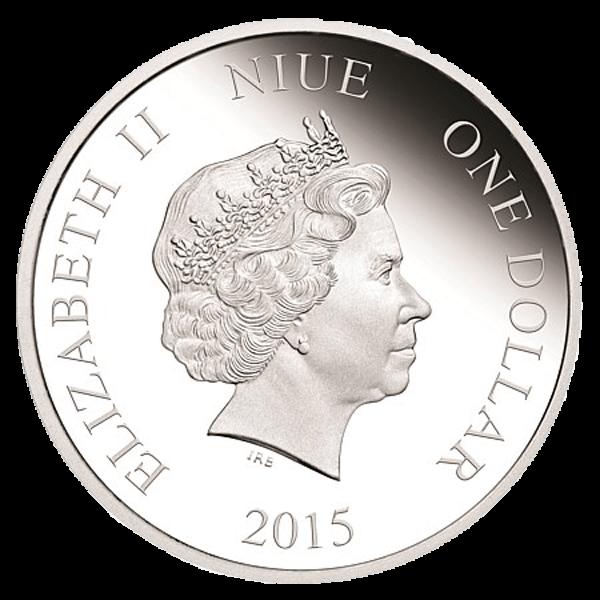 Niue 2015 1$ Disney - Season's Greatings 1/2 oz Proof Silver Coin