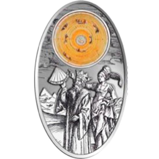 Fiji 2012 10$ Apocalypse III. 2012 - Almagest & Ptolemy Satined Silver Coin