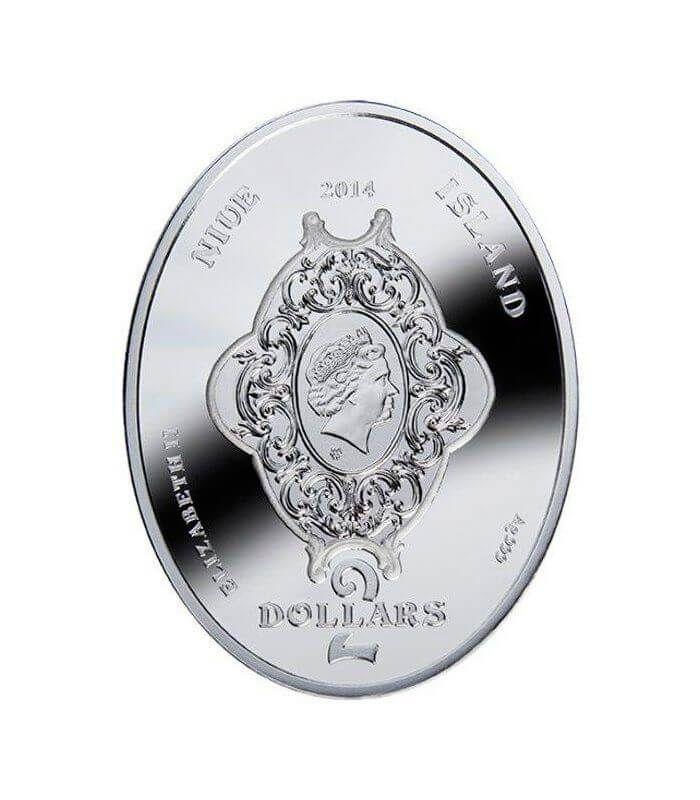 Kiwi Faberge Eggs Proof Silver Coin 2$ Niue 2014 2$