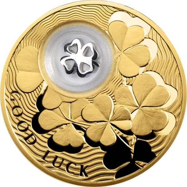 Four-Leaf Clover Lucky Coins III Proof Silver Coin 2$ Niue 2013