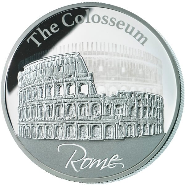 Niue 2015 2$ The Hologram Collection / The Colosseum in Rome Proof Silver Coin