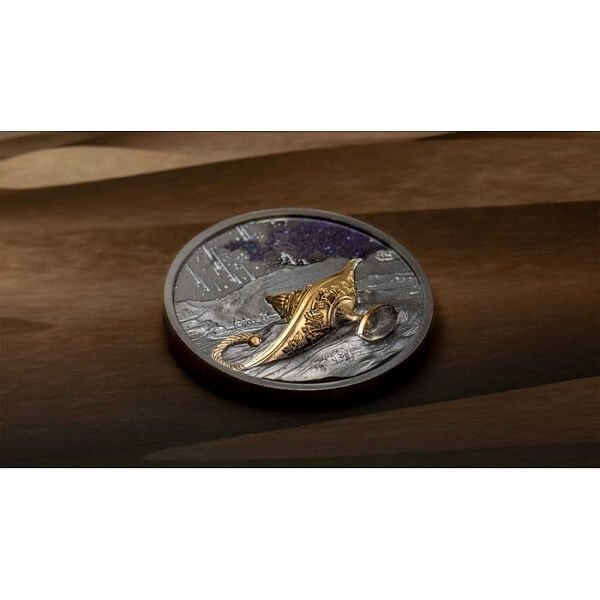 1001 Nights Magical Lamp 1 oz Black Proof Silver Coin 5$ Palau 2021