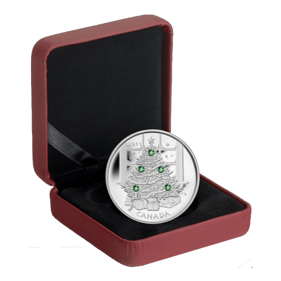 Canada 2011 20$ Christmas Tree 2011 Proof Silver Coin