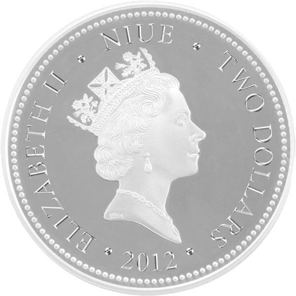 Niue 2012 2$ Feng Shui - Koi Proof Silver Coin