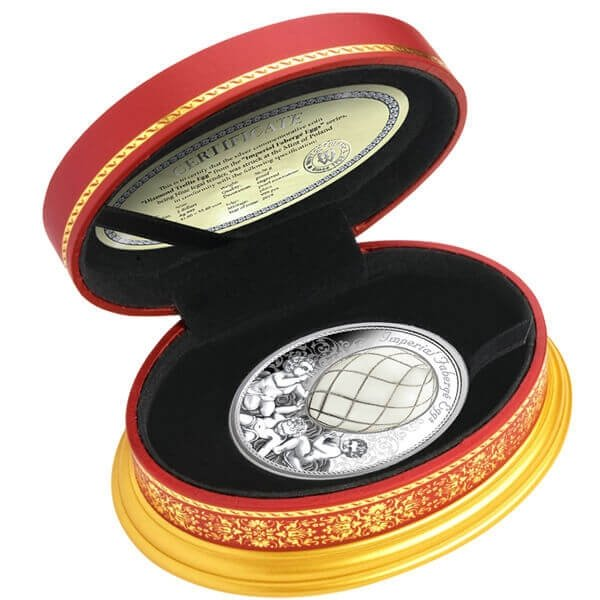 Diamond Trellis Egg Imperial Faberge Eggs 56.56g Proof Silver Coin 2$ Niue 2019