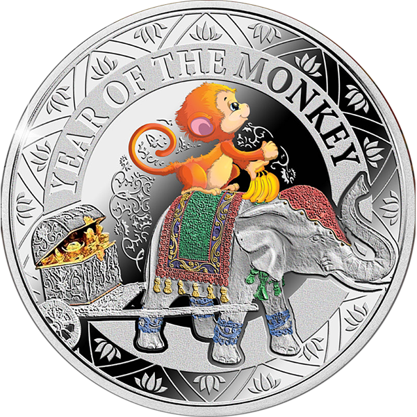 Niue 2016 1$ Year of the Monkey for Kids Lunar Calendar Proof Silver Coin
