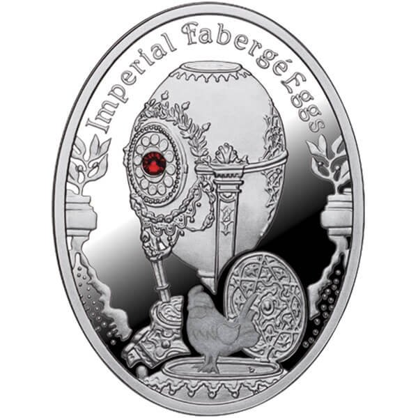 Cockerel Egg Imperial Faberge Eggs Proof Silver Coin 1$ Niue 2012