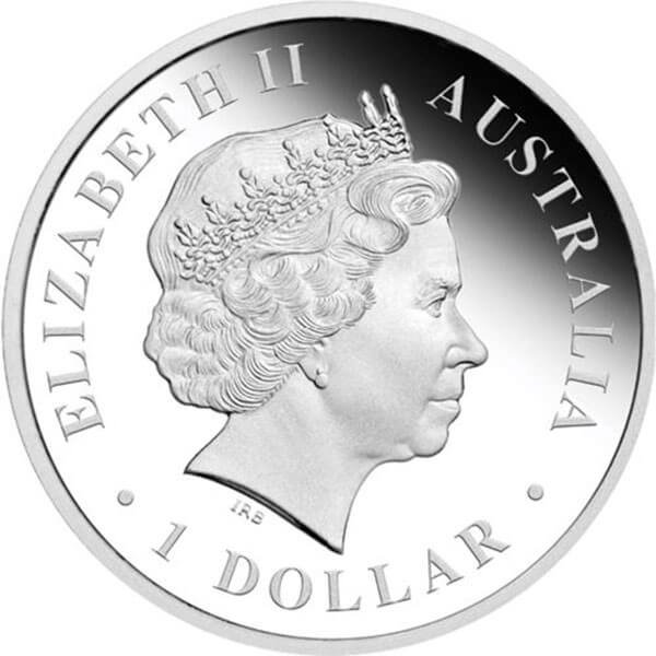 Discover Australia - Emu Colored 1 oz Proof Silver Coin 1$ Australia 2013