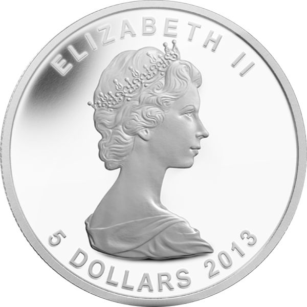Canada 2013 5$ 25th Anniversary of the Silver Maple Leaf  Silver Proof Coin
