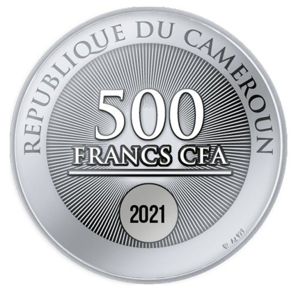 Welcome to the World Proof Silver Coin 500 Francs Cameroon 2021