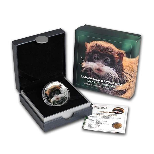 Amazing Animals – Emperor Tamarin 1/2 oz Proof Silver Coin 1$ Niue 2015