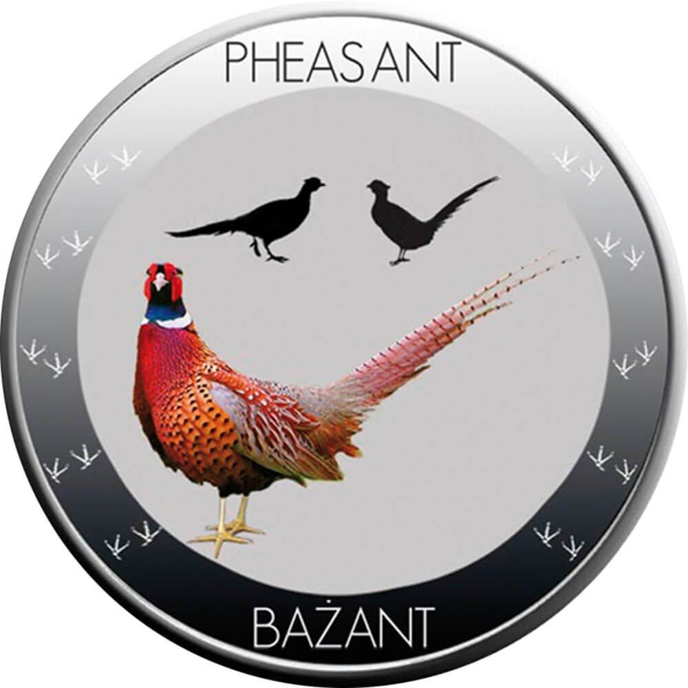 Niue 2015 1$ Symbols of Nature - Pheasant Proof Silver Coin 10 g