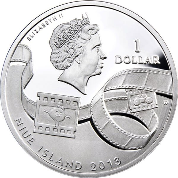 Bugs Bunny  Cartoon Characters  Proof Silver Coin 1$ Niue 2013